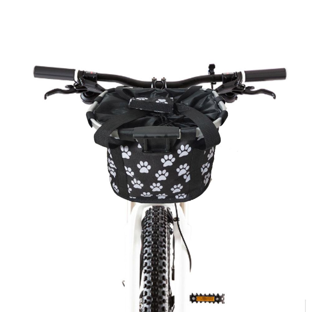 Bike Front Basket Removable Mountain Bike Handlebar Basket Carrier Cycling Bag