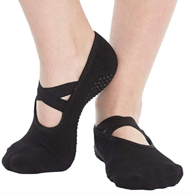 Hot sale classic black yoga socks non-slip wear-resistant yoga socks