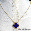 Yellow gold blue agate