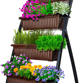 Garden storage Freestanding Elevated Planters sheds Boxes - Good for Patio Balcony Indoor Outdoor