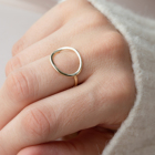 Ring Gold Custom Designer Ring Stainless Steel Gold Circle Ring For Women