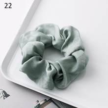 Женские атласные резинки с жемчугом, мягкие эластичные ленты для волос, аксессуары для девочек, 2019(Китай)
