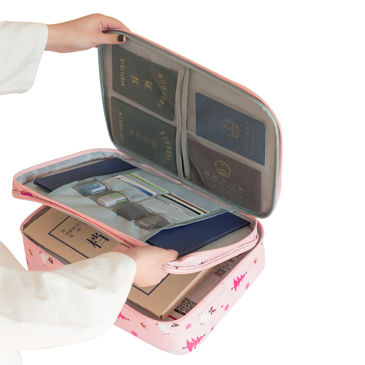Custom Printing Folder Organizer Document Organizer Bag Zipper Closure Portable Document Holder With Coded Lock