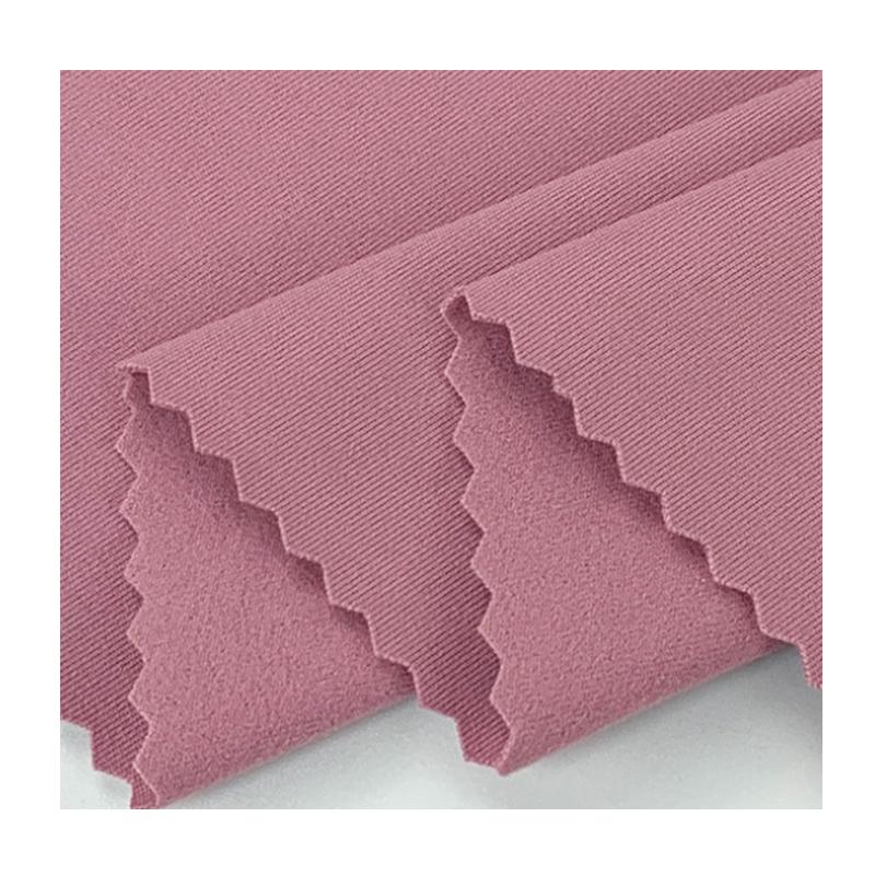 Hot sale Skin friendly comfortable 79% polyester 21% spandex 240gsm single peach Yoga fabric