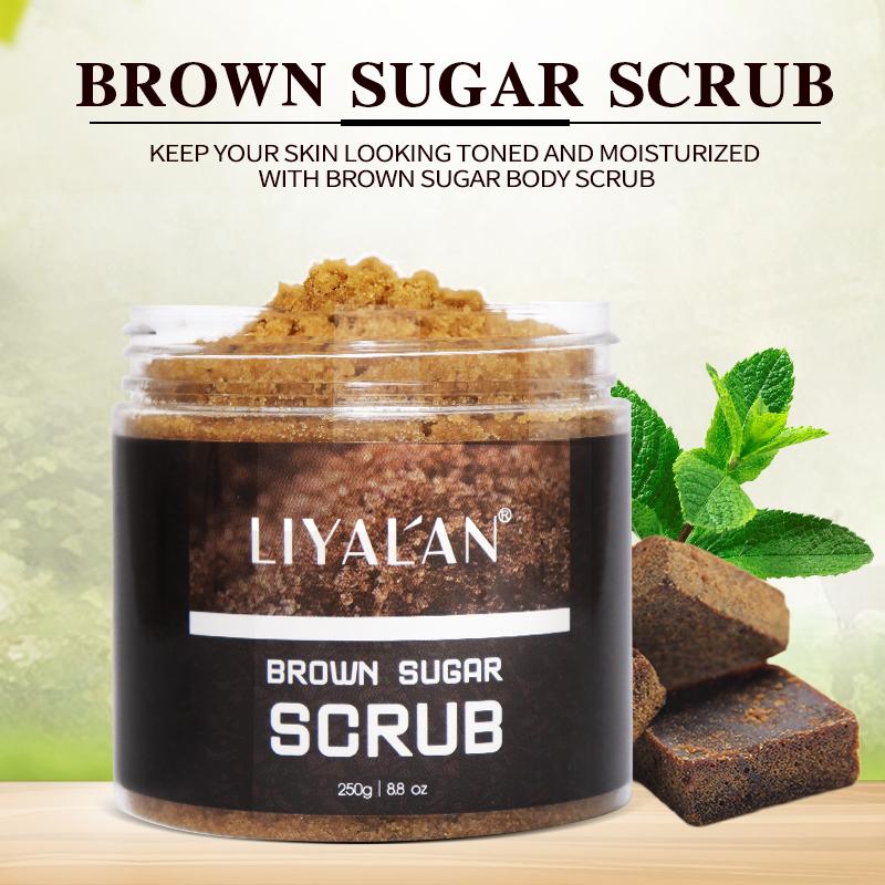 Private Label Natural organic whitening Exfoliation moisturizing body Brown Sugar Scrub