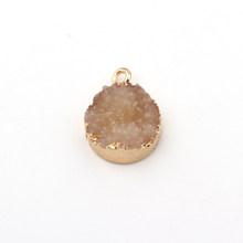 5 шт. 15 мм маленькие Висячие Серьги Подвески из смолы, фурнитура для кулонов Diy, неравномерное женское ожерелье, браслет, аксессуар для изгото...(Китай)