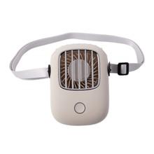 Подвесной шейный вентилятор NewLazy People, ручной маленький веер с широкоугольным ветром, портативные мини-вентиляторы с usb-зарядкой, 2020(Китай)