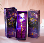 Gift Galaxy Rose 24k Galaxy Rose With LED Light Artificial Galaxy Rose Flower For Valentine's Day Gift