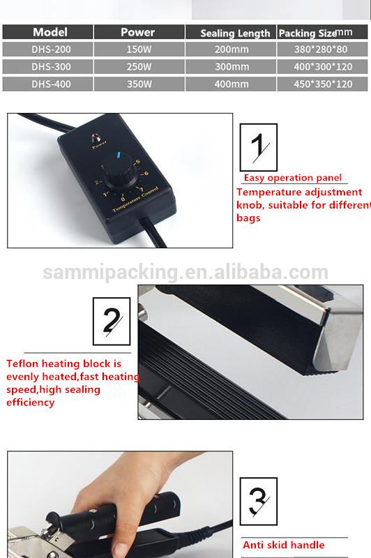 Potable Small Hand Bag DHS-200 Portable Sealer Heat Impulse Clamp Pliers Sealing Machine