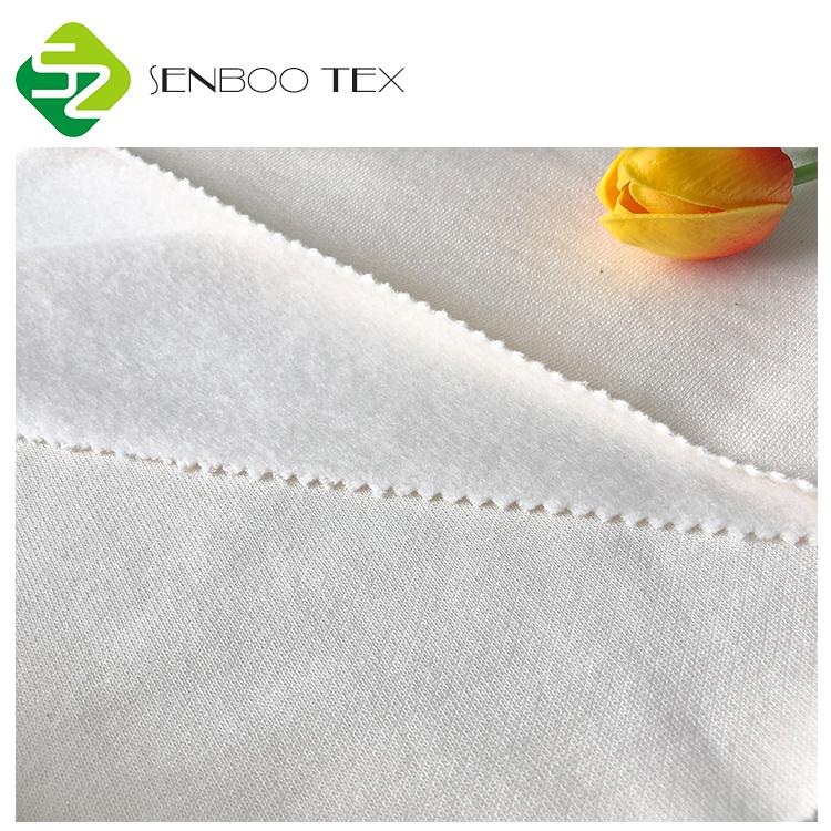 Высококачественная натуральная Органическая Бамбуковая флисовая ткань 430GSM-500GSM для детских подгузников/вставок