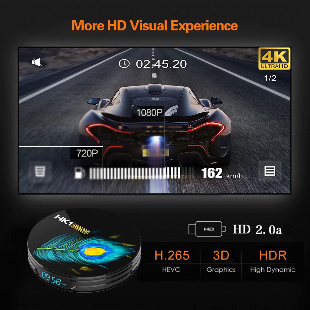 HK1 RBox R3 Set-top Box Android 11.0 RK3566 Quad Core TV Box 1000M LAN multi languages