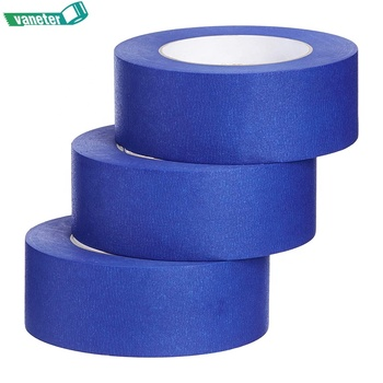 Crepe paper 14 days UV resist blue masking tape, high quality masking adhesive blue tape painter