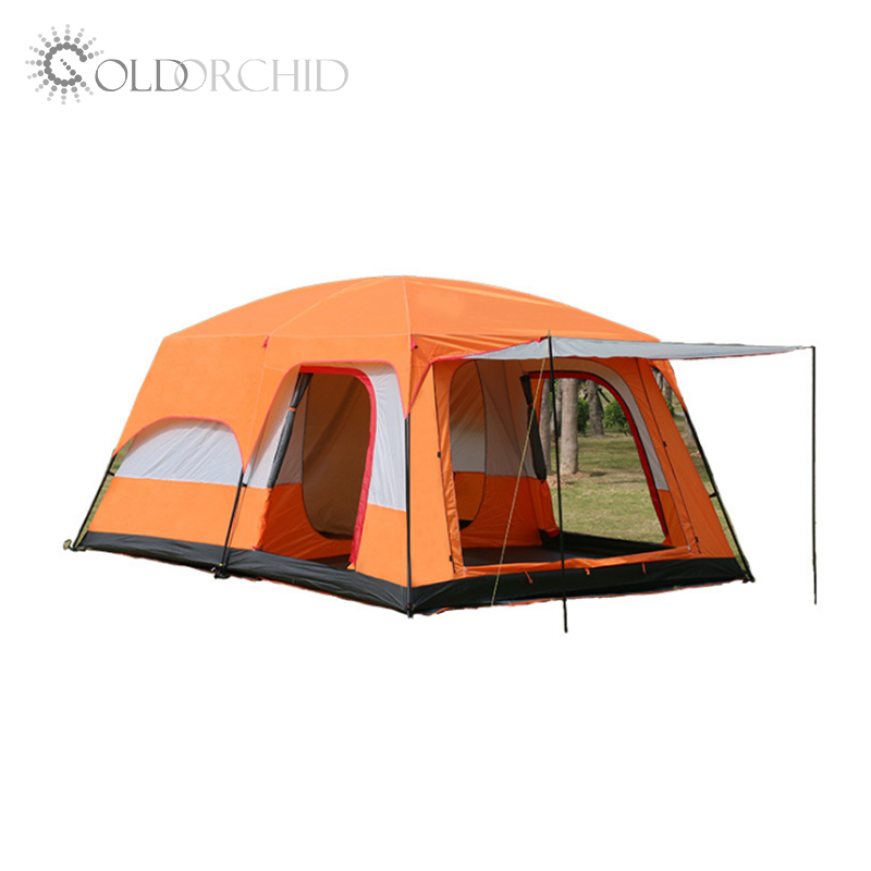 wholesale waterproof 210T 3-4 person tent large camping family