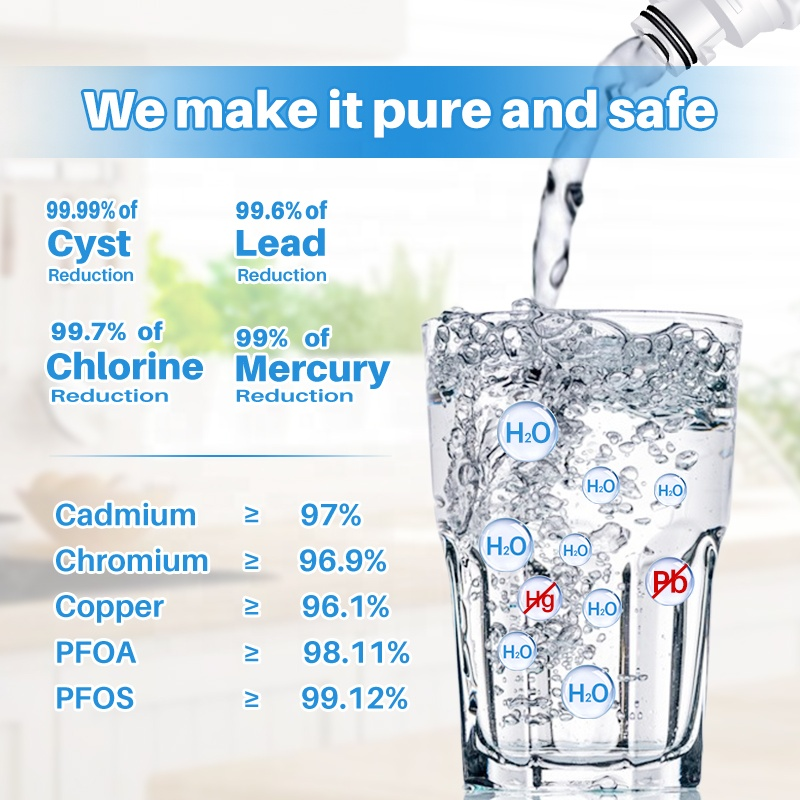 Best China factory price 4396701 Filter5 EDR6D1 home ice fridge freezer refrigerator water filter