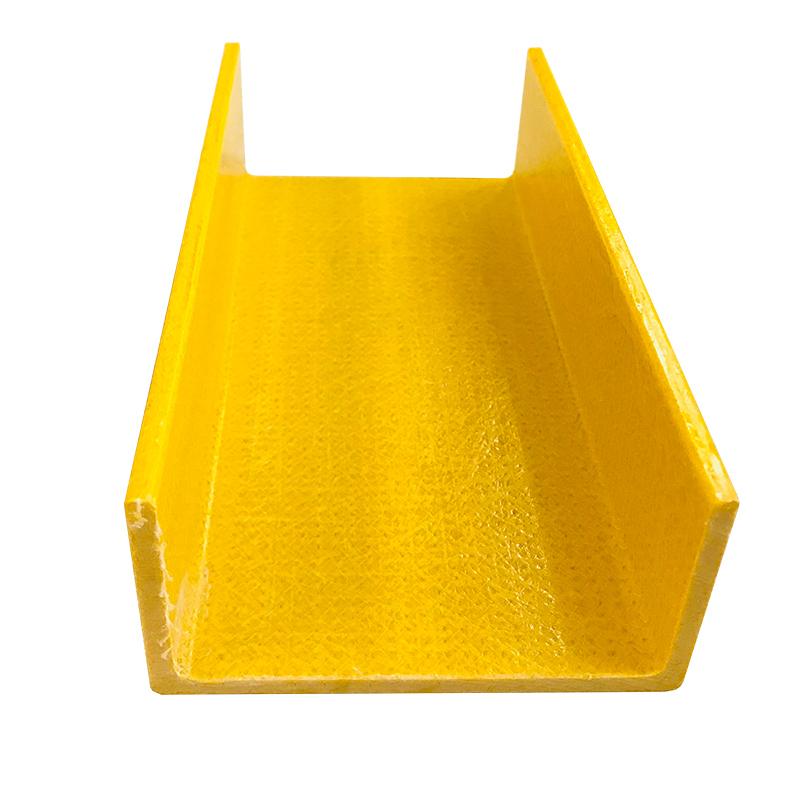 High Impact Fiberglass Pultrusion Profiles FRP U Steel GRP C channel