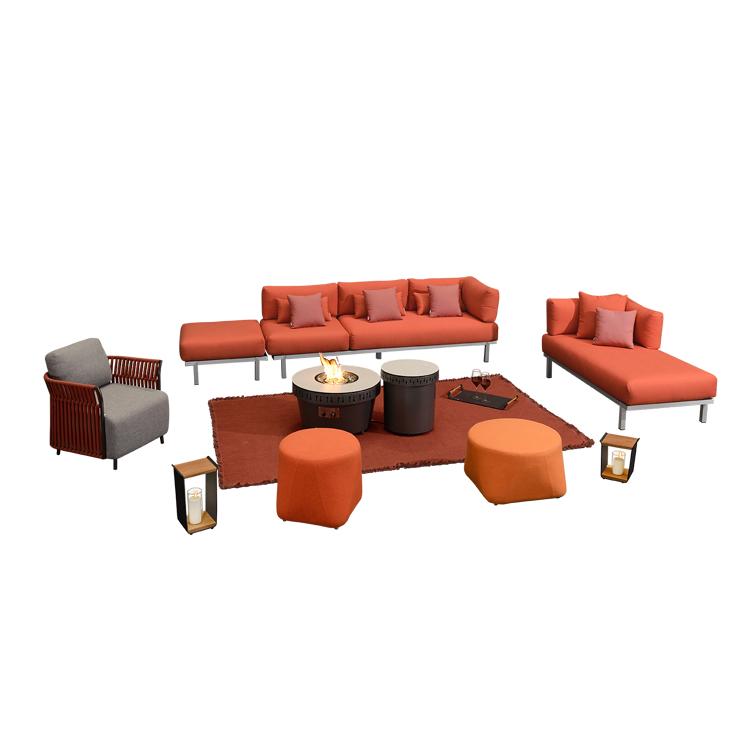 Stylish colors office scene comfortable aluminum outdoor sofa loose furniture modern