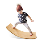 Toy Wooden Wobble Balance Board Kids Toddler Open Ended Learning Toy For Body Training Wooden Rocker Curvy Board Kid Size