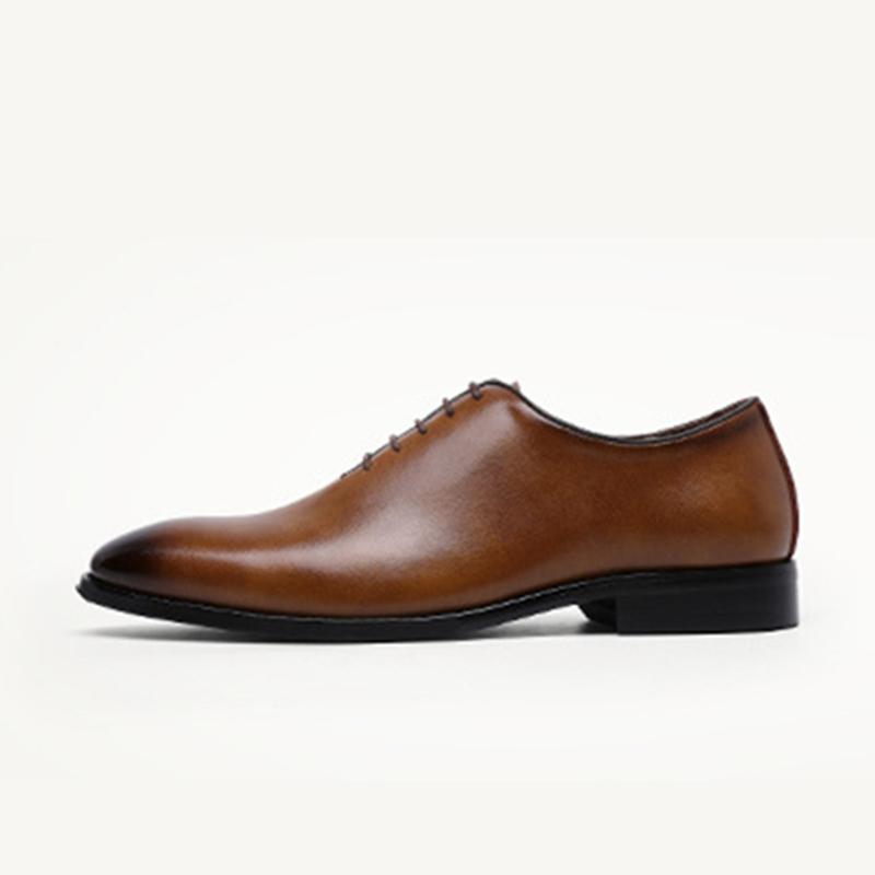 Лидер продаж, Модные Дизайнерские мужские классические туфли на шнуровке, броги, деловая обувь