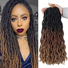 Hair Extensions Curly Faux Locs Wholesale Hot Selling Wavy Curly Distressed 36 Inches Hair Extensions Soft Goddess River Nu Crochet Gypsy Butterfly Faux Locs