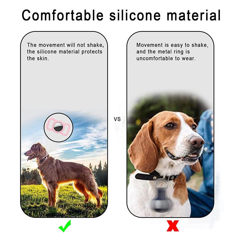 Colorful Airtag Case Pet GPS Airtag Dog Collar Cover Air Tag Holders For Apple Tracker