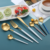 Wholesale Metal Silverware Kitchen 24pcs Tea Coffee Black Dessert Gold Flatware Spoon And Fork Cutlery Set Stainless Steel