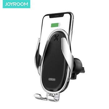 joyroom air outlet induction car bracket QI 15W fast charging wireless mobil phone car holder with charger