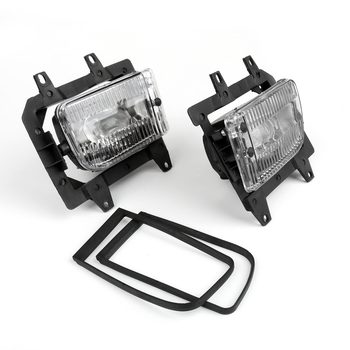 Areyourshop For BMW 1985-1993 E30 3-Series Sedan Front Bumper Clear Plastic Lens Fog Lights
