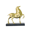 Black marble brass camel decoration
