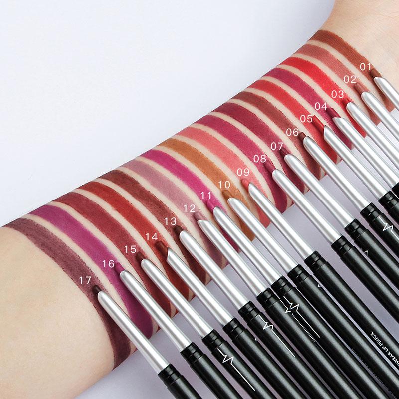 17 colors creamy colored organic lip liners set eye shadow eyeliner lip pencil waterproof lip liner oem buy waterproof lip liner oem lip liners