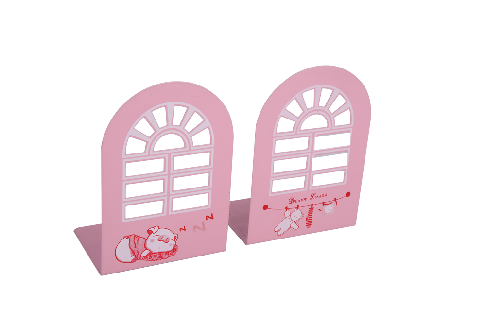 Galvanized Iron Books Holder high quality Cute desktop standing bookends decoration metal bookends