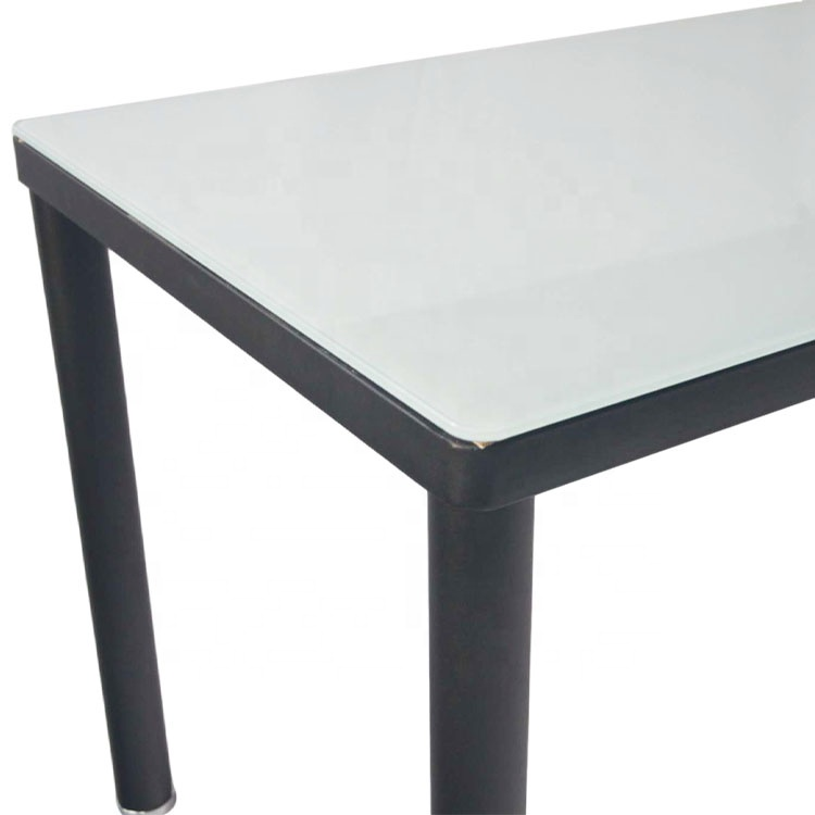 High Quality Dining Furniture Modern Round Glass Dining Table With Metal Base