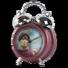 Rouge alarme de musique horloge