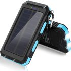 Outdoor Waterproof 20000mah Solar Power Bank Dual Usb 5V 2A Camping Solar Mobile Charger Solar Power Supply For Cell