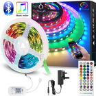 Led Strip Rgb Lighting 12v Ledrgb LED Strip Lights 5m10m15m20m30m Music Sync RGB Lighting Strip With App Control Remote Home Kitchen Party 12V