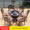 11-6 барный стул 1 барбекю круглого стола D106cm