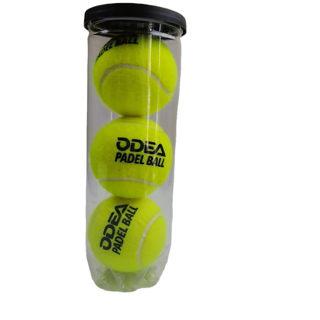 Yiwu huidong спортивные оптовая продажа Пелотас de padel новый высокий отскок желтый падел мяч с напечатанным логотипом 45% шерсть весло мяч для продажи