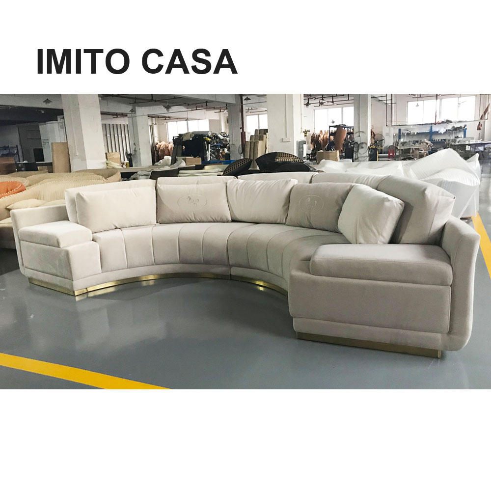 Luxury Italian Furniture Beige Sofa Couch 7 Seater Half Round Sofa Bed Ff Style Multicolor Home Furniture Modern Sofa Buy Home Furniture Modern Sofa Set Sofa Set 7 Seater Sofa Bed Product On