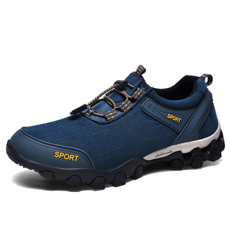 One Pair Custom Logo Men Outdoor Safety Shoes Lightweight Breathable Hiking Sports Shoes Waterproof Walking Shoes