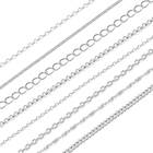 Multiple Jewelry making supplies wholesale 925 sterling silver chain 1meter silver Semi finished chain Necklace Accessories