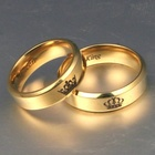 King Ring Stainless Rings Rings For Couple Wedding Golden Her King His Queen Ring Crown Stainless Steel Couple Rings Wedding Jewelry Band For Lovers Engagement Promise Souvenirs