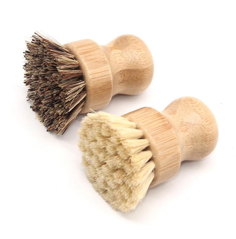 Wooden Bamboo Round Pot Dish Bowl Sink Stove Washing Brush Kitchen Cleaning Tool Round Handle Easy Use Cleaning Tools Buy Cleaning Brush Kitchen Brush For Dishes Cleaning Brush Set Cleaning Brush