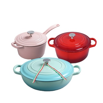 Enamel Cast Iron Cookware Set For Kitchen Ware Cooking Pot Sauce Pan