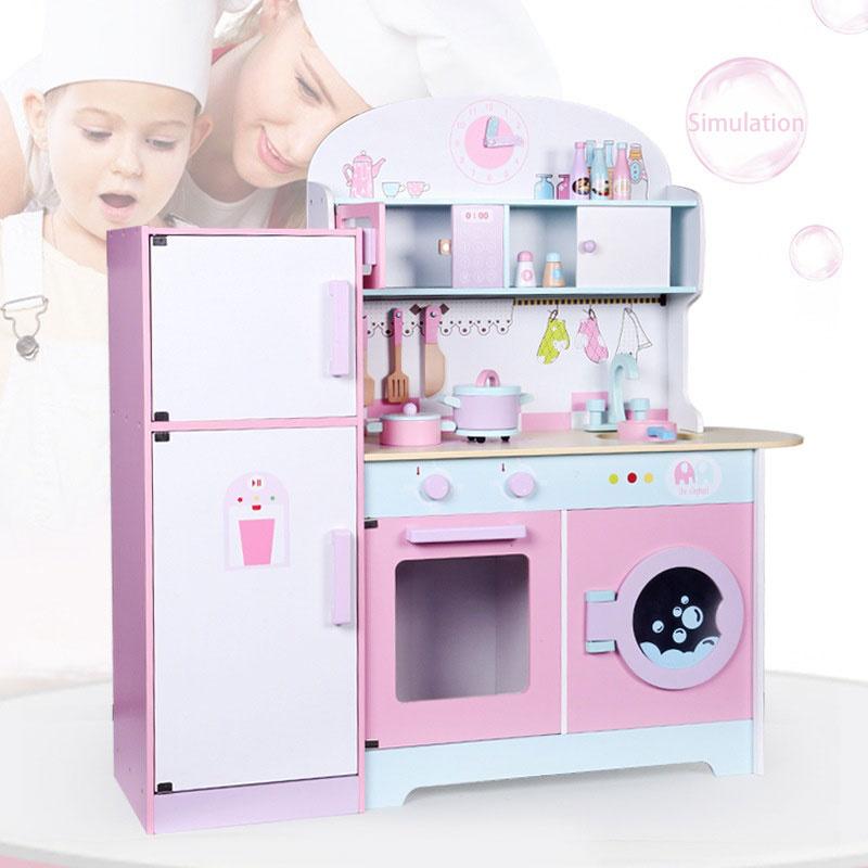 2021 Новое поступление, деревянные Мини-кухонные Детские кухонные наборы для детей