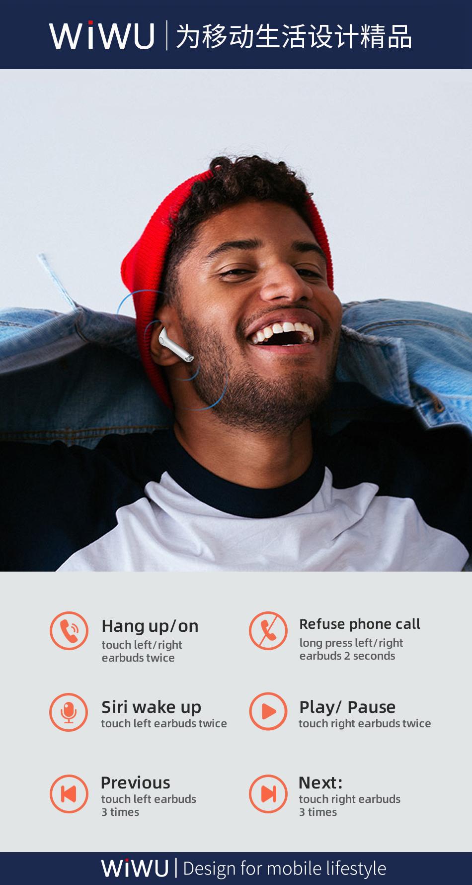 WiWU TWS06真无线双耳 蓝牙耳机 (https://www.wiwu.net.cn/) 耳机 第4张