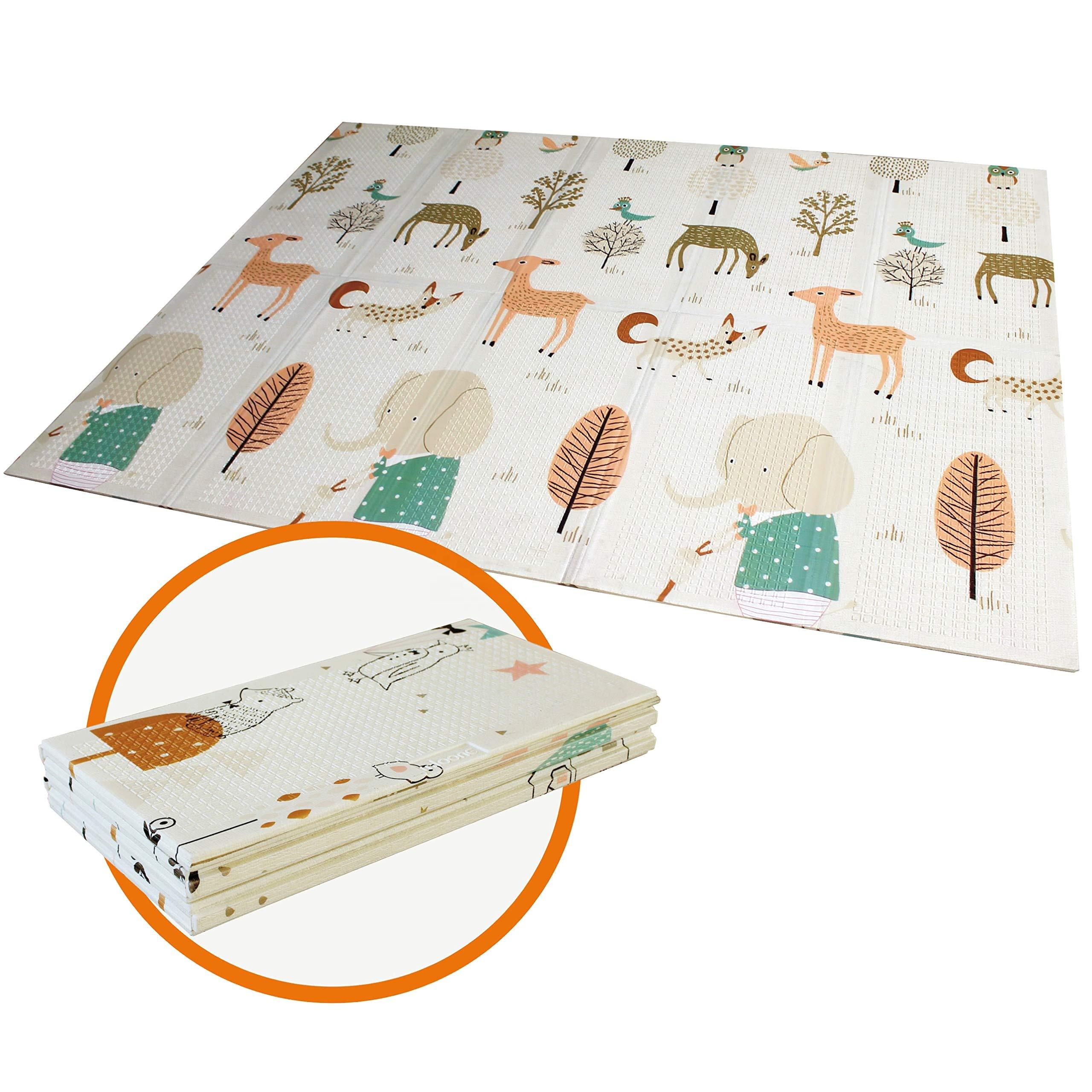 Лидер продаж 2020, детские складные игровые коврики из пенополиуретана Xpe для малышей Amazon, коврик для младенцев