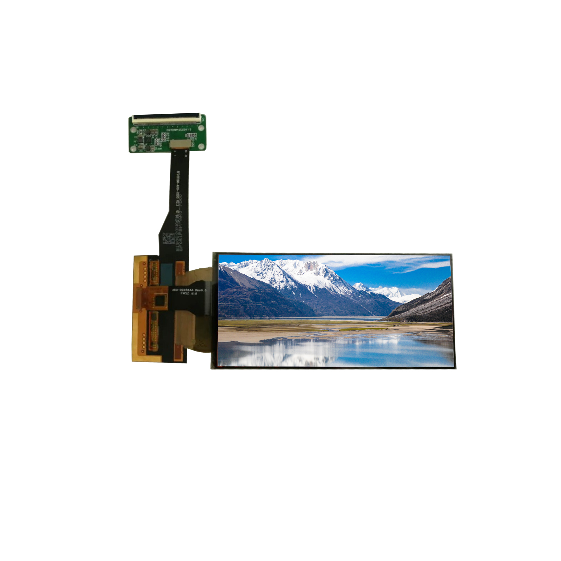 5.1 inch 720*1520 flexible oled touch screen display with HD-MI controller board