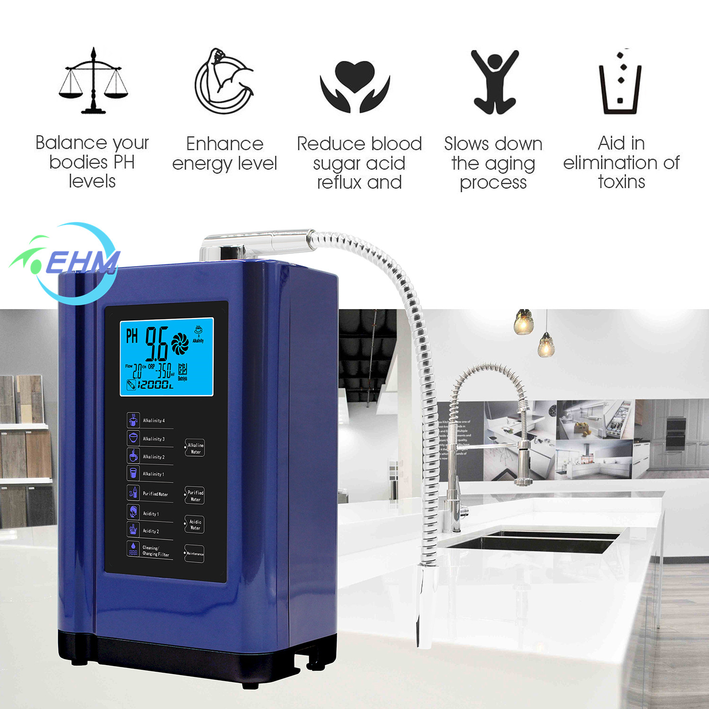 EHM-729 5 или 7 пластин, бытовой ионизатор воды, очиститель, щелочной воды