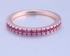 08;Rose Gold;half pink diamond ring