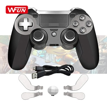 Dual Vibration Modded wireless Controller for Play Station 4 PS4 PC with Speaker and 3.5mm Audio Headphone Jack