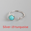Silver-19 Blue stone